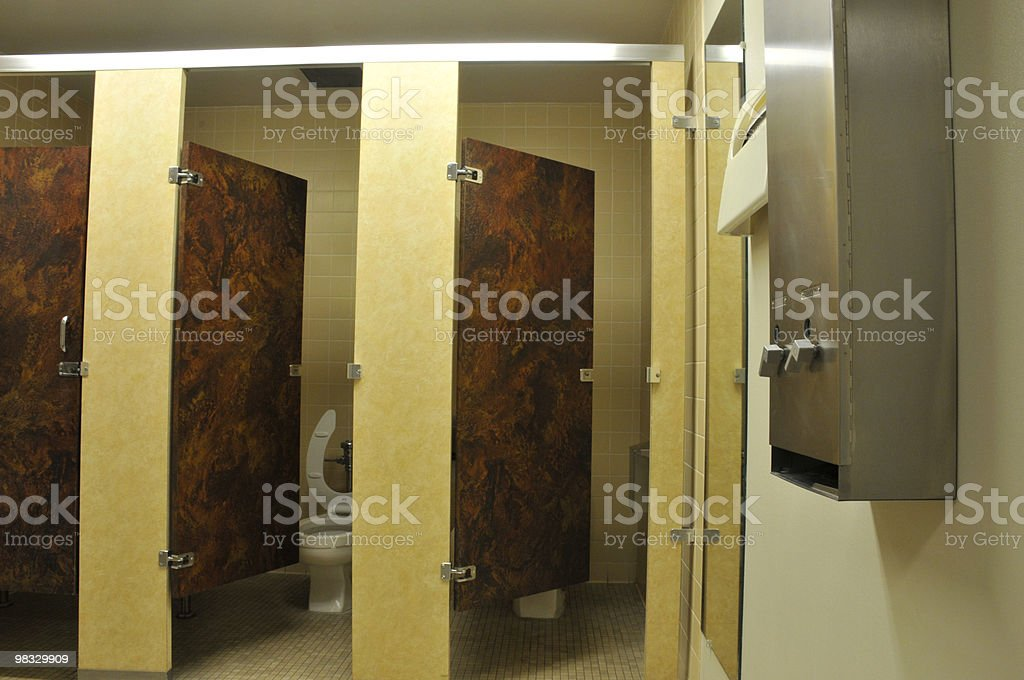 Restroom Stalls royalty-free stock photo