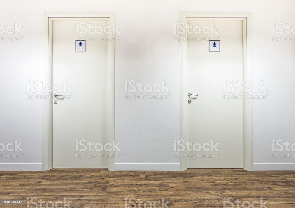 Restrooms stock photo