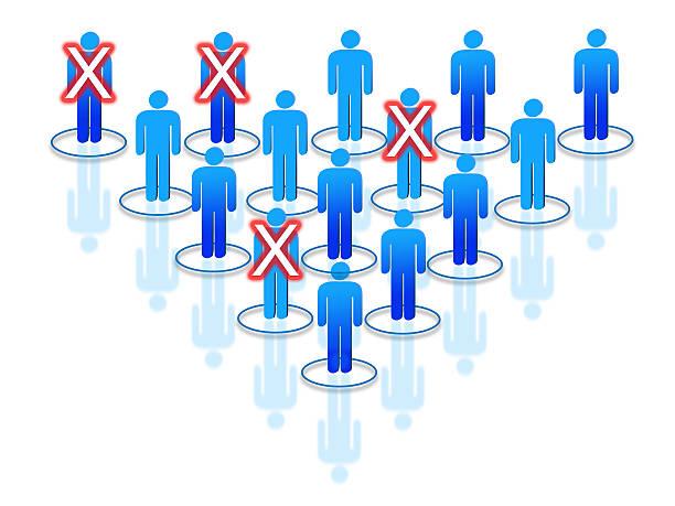 umstrukturierung prozess innerhalb der organisation oder ein unternehmen aus. - kündigung arbeitsvertrag stock-fotos und bilder