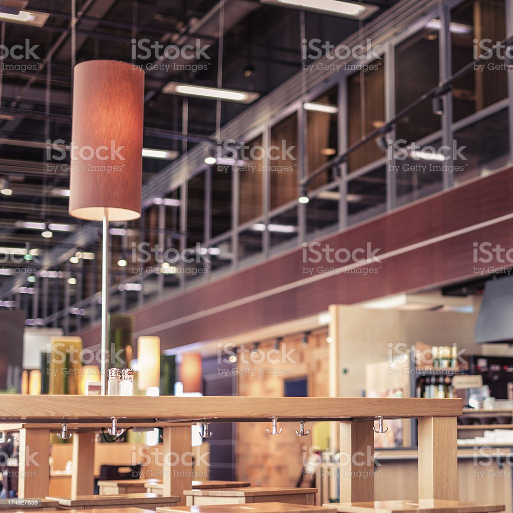 Resturant at Airport lounge royalty-free stock photo