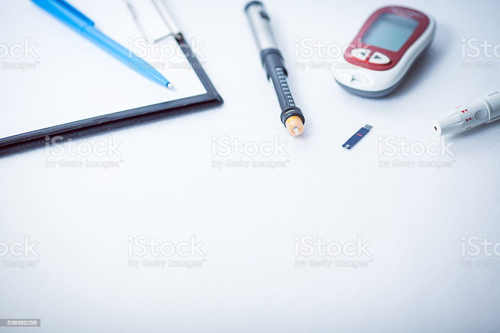 result of measurement sugar, concept for measuring sugar level stock photo