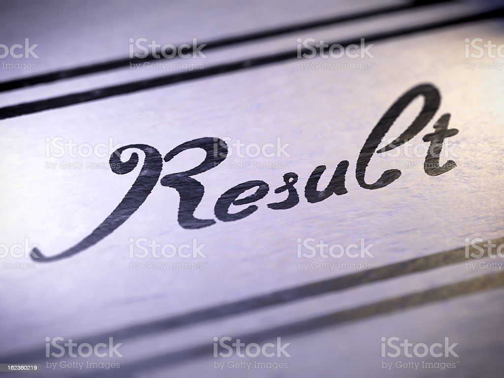 result royalty-free stock photo