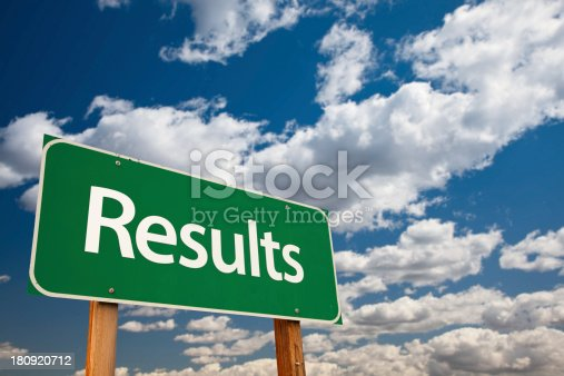 istock Results Green Road Sign 180920712