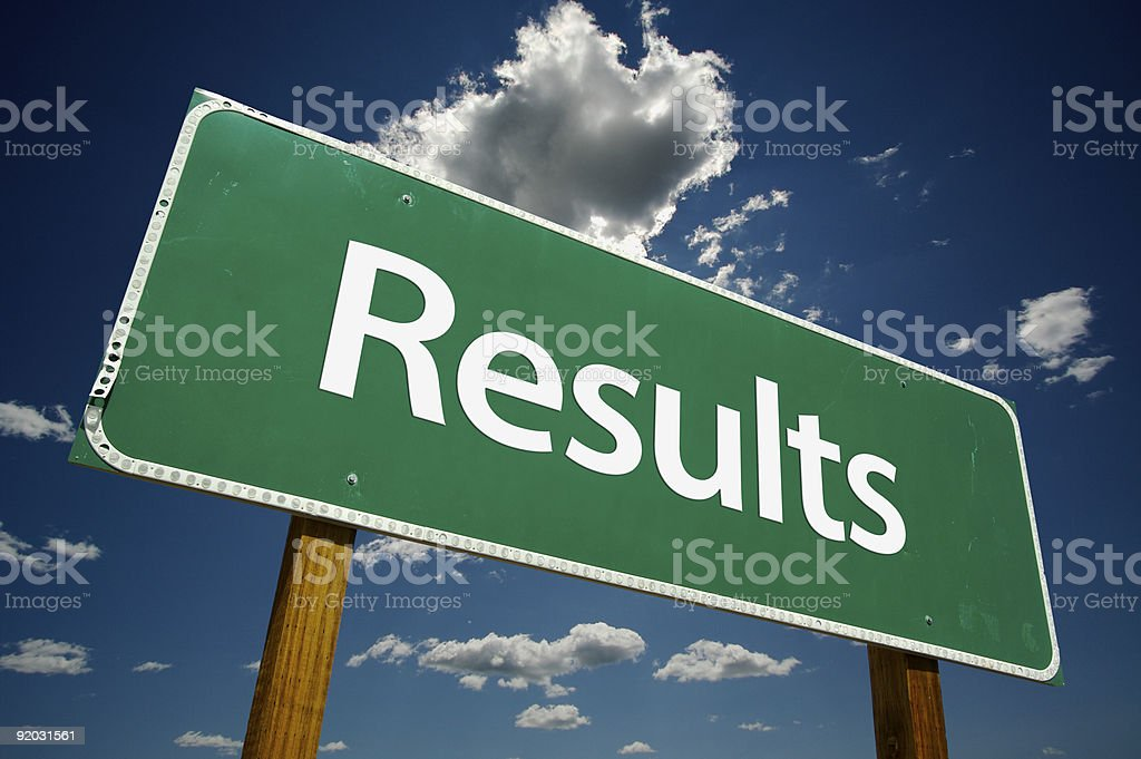 Results Road Sign - Royalty-free Cloud - Sky Stock Photo
