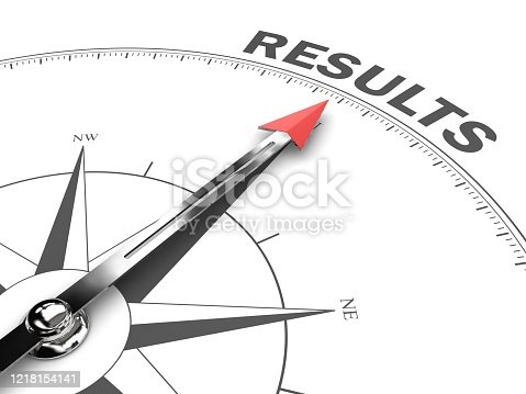istock Results solution compass business strategy decision 1218154141