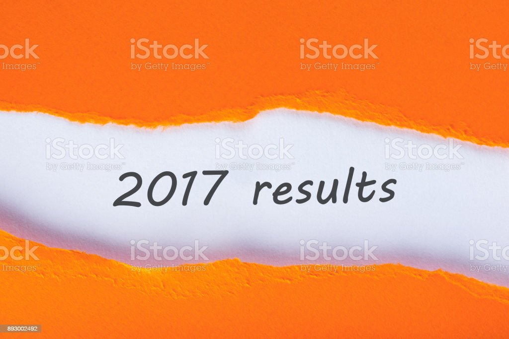 2017 results. Time to summarize and plan goals for the next year. Business background stock photo