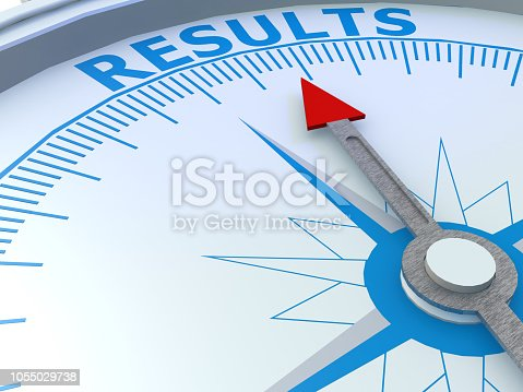 istock Results word on compass isolated 1055029738