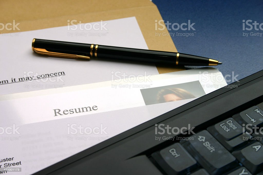 Resume 1 stock photo