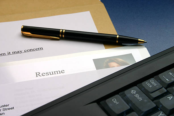 Resume 1 stock photo