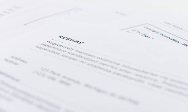 Resume for applying the job Resume for applying the job covering stock pictures, royalty-free photos & images