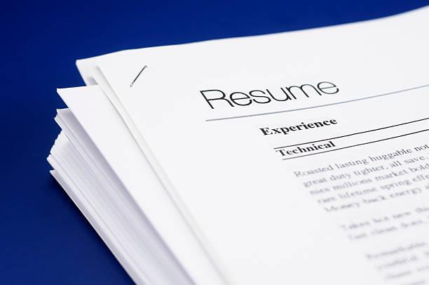 resume - curriculum vitae bildbanksfoton och bilder