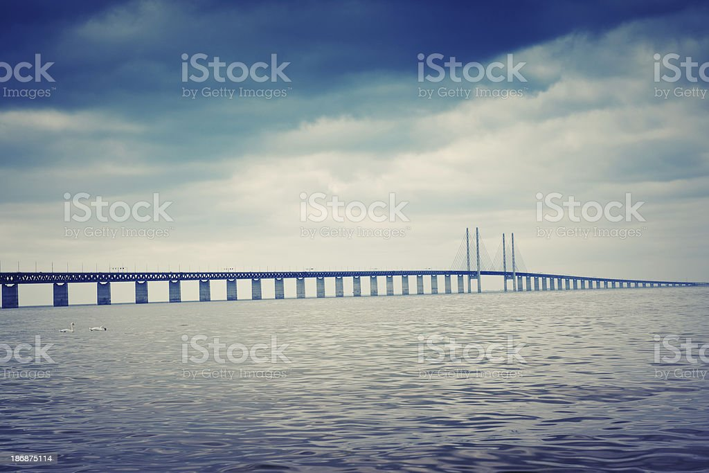 Öresund bridge stock photo