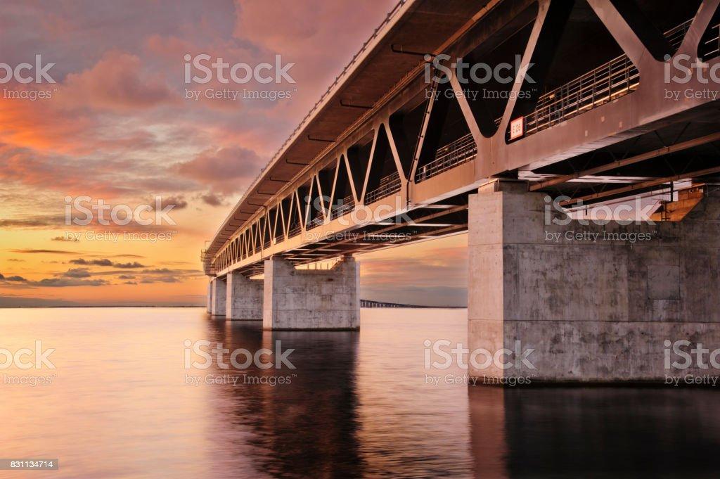 Öresundsbron bildbanksfoto