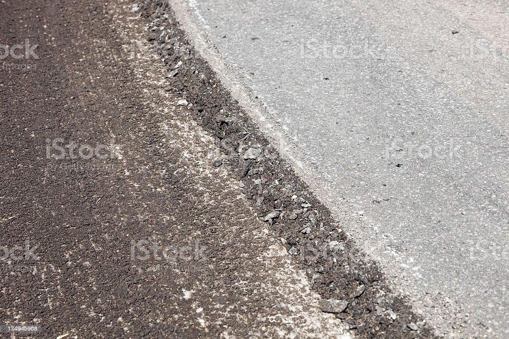 Resurfacing Asphalt Parking Lot or Street stock photo