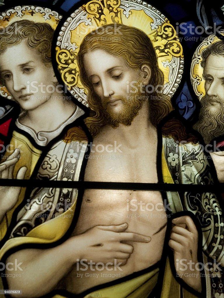 Resurrected Christ stock photo