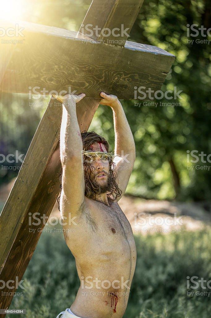 Resurrected Jesus With Divine Light stock photo