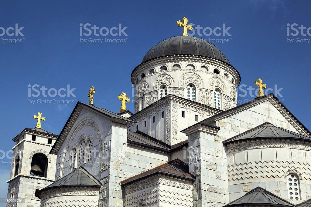 Resurrection church in Podgorica stock photo