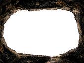 Empty tomb stone isolated on white background