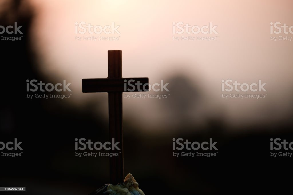 Silhouette cross sunrise background, Cross At Sunset, Crucifixion Of...
