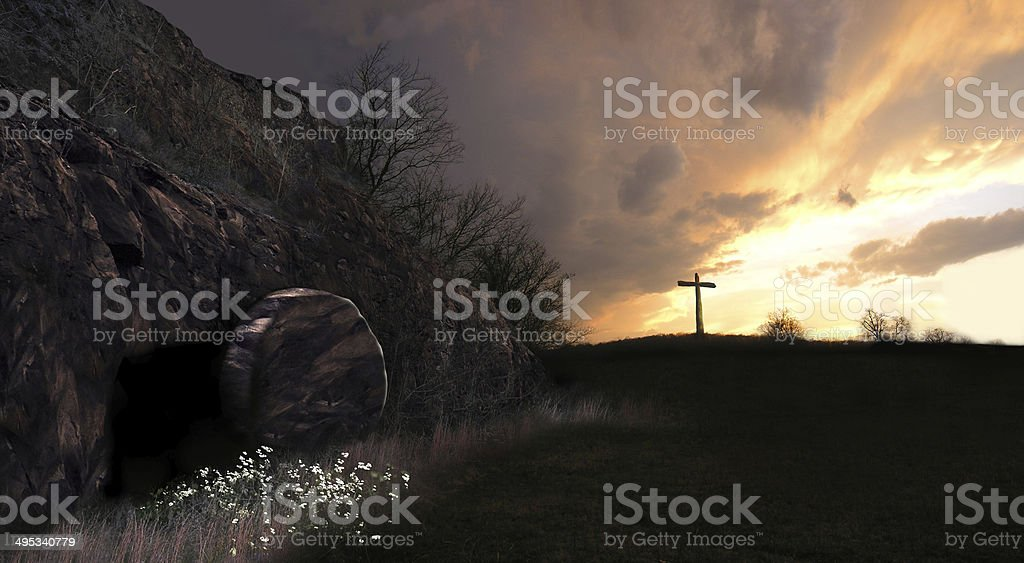 Resurrection Sunrise stock photo