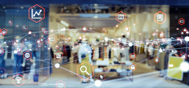 Retail and technology. Retail as a Service. stock photo