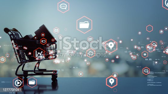 istock Retail and technology. Retail as a Service. 1277731041
