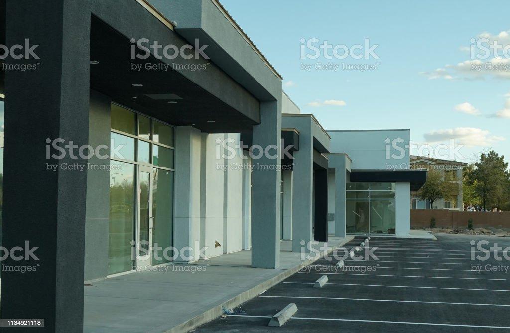 shot of retail building