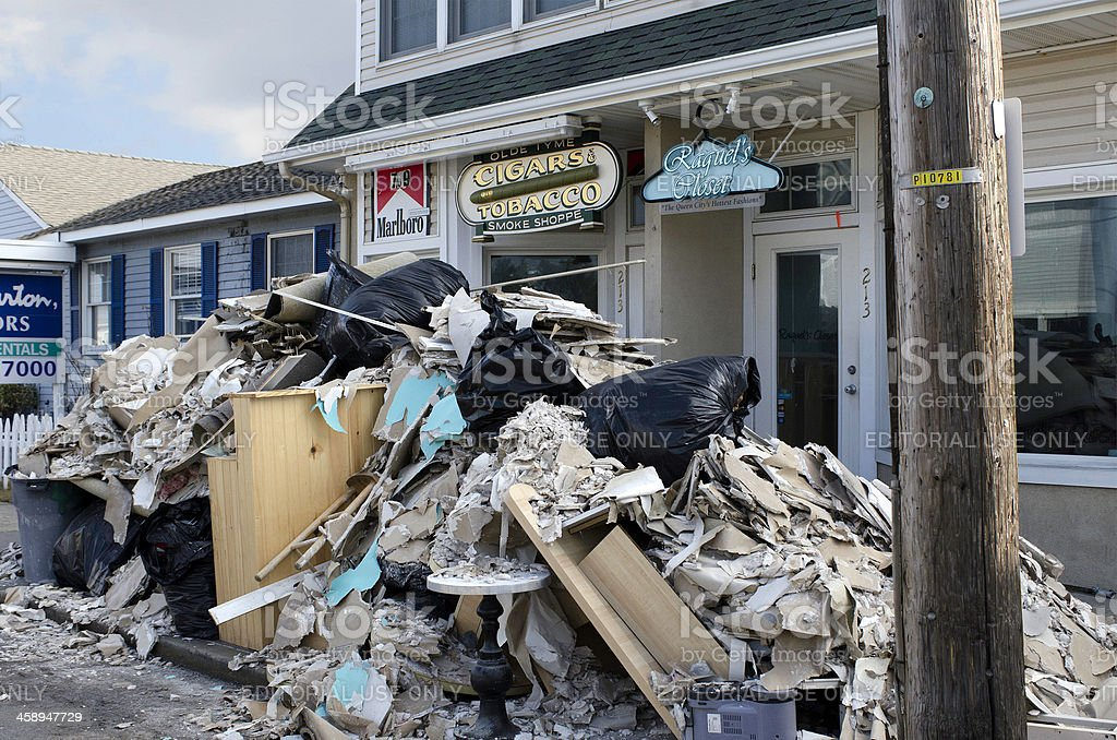 Retail Businesses Rebuild After Super Storm Sandy stock photo