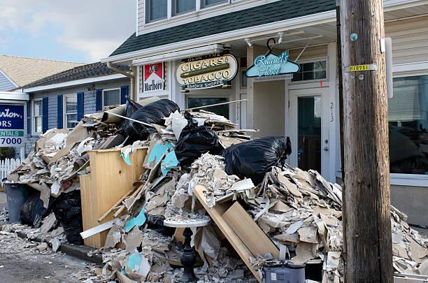 Retail Businesses Rebuild After Super Storm Sandy stock photo