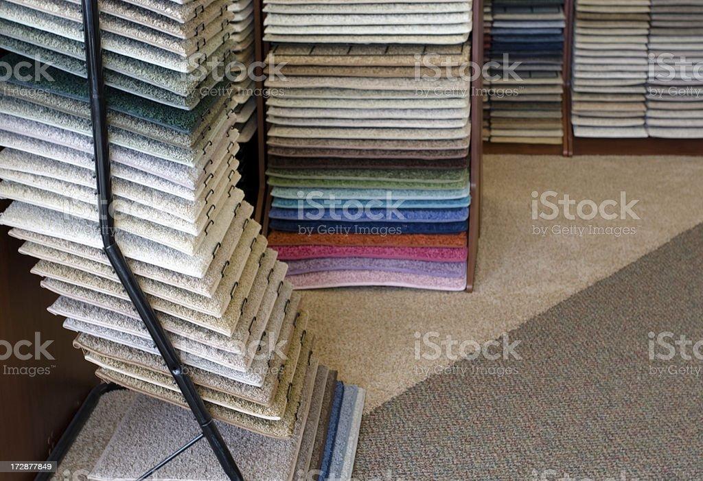 Retail Carpet Sample Displays royalty-free stock photo