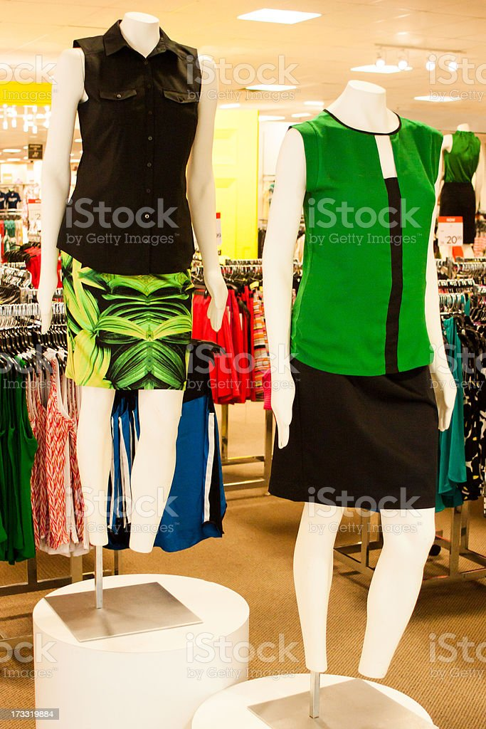 Retail Clothing Store Mannequins royalty-free stock photo