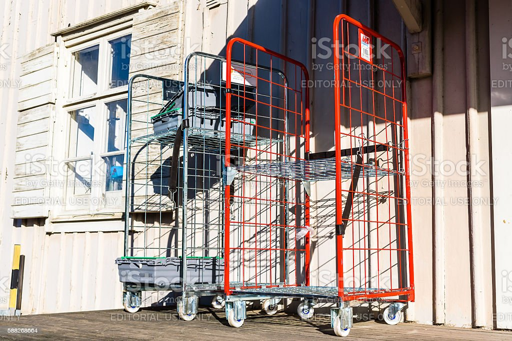 Retail delivery cart stock photo