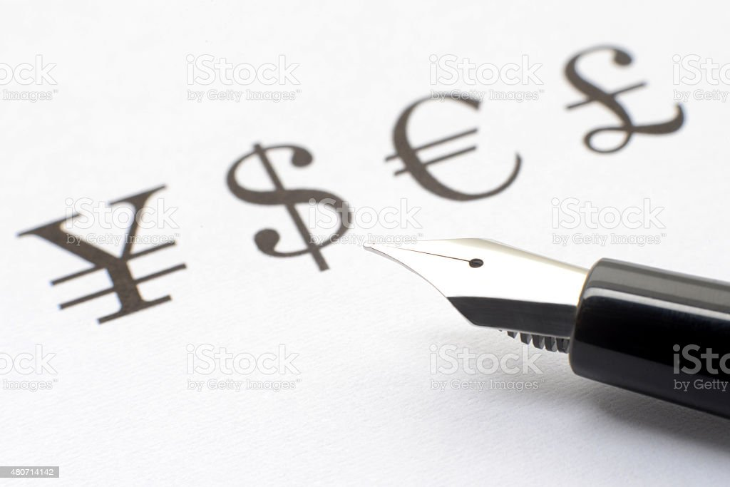 Retail foreign exchange trading concepts stock photo