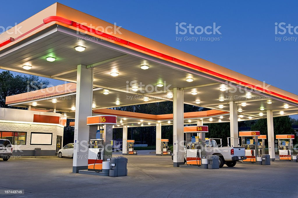 Retail Gasoline Station and Convenience Store stock photo