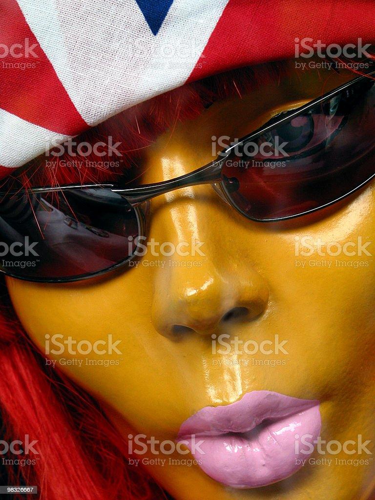 소매 마네킹, 포토벨로 시장, 런던, 영국 플랙, 선글라스, 패션, 암컷 royalty-free 스톡 사진