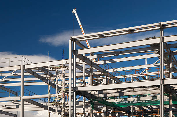 Retail or business construction stock photo