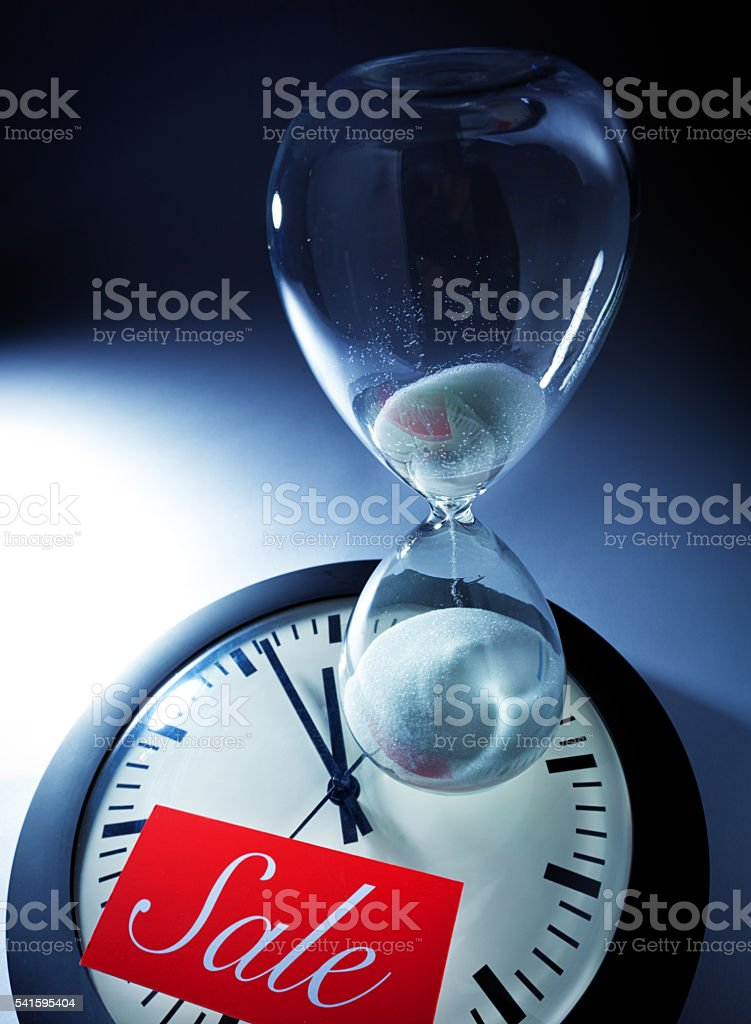 Retail sale deadline with the countdown of time running out as the...
