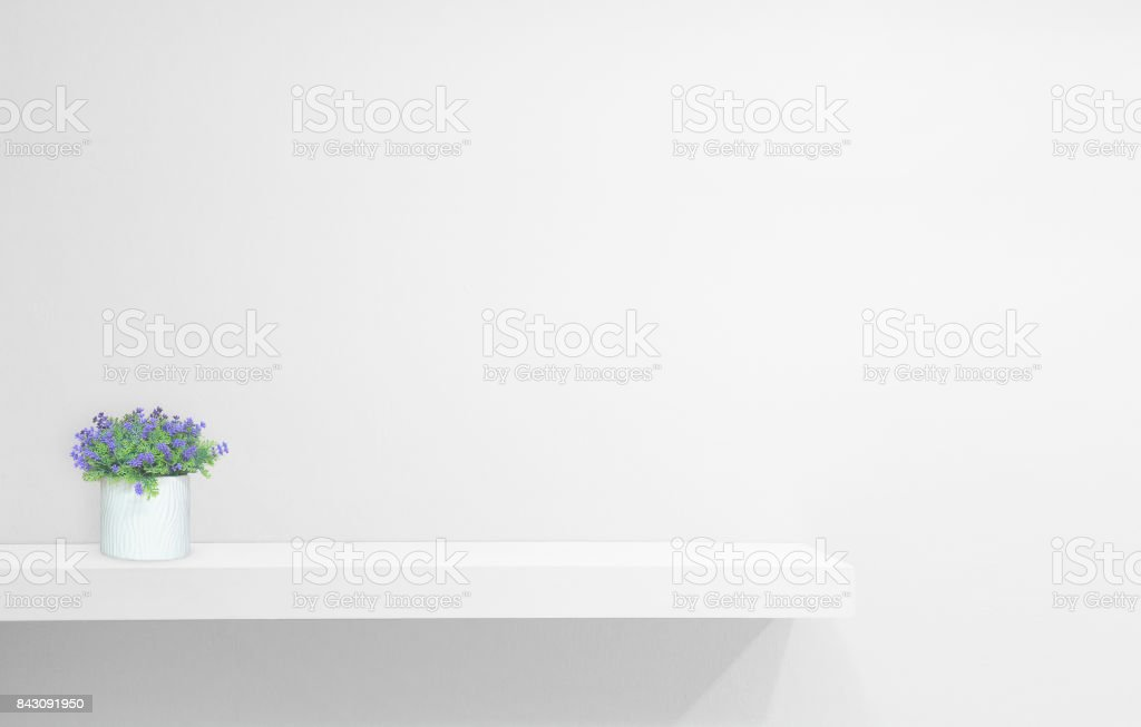Retail Shelf On White Vintage Background Fill Objects Royalty Free Stock Photo