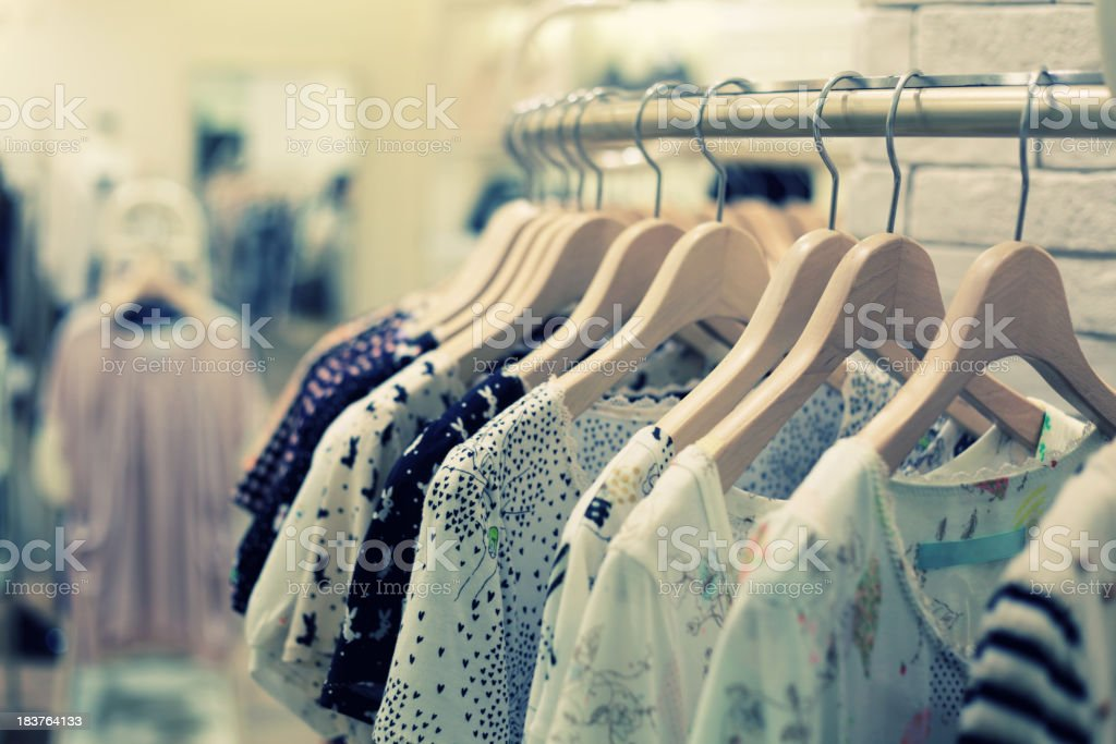 Retail Shopping Sale - Clothing in Fashion Store royalty-free stock photo