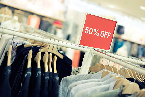 Retail Shopping Sale - Clothing in Fashion Store Fashion store with