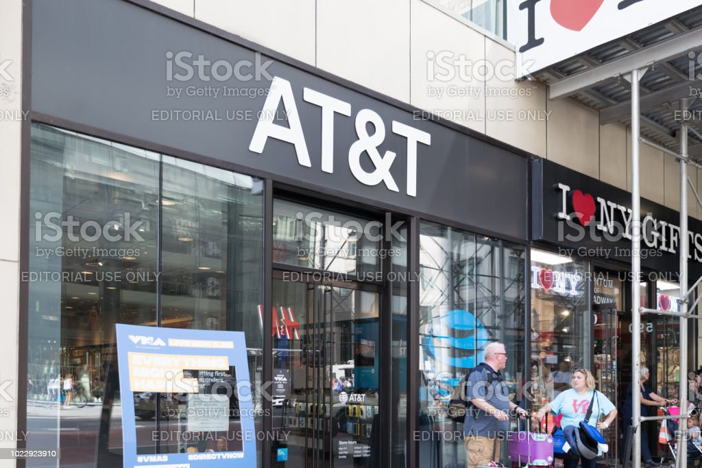 AT&T Retail Store. AT&T Inc. is an American Telecommunications Corporation IX stock photo
