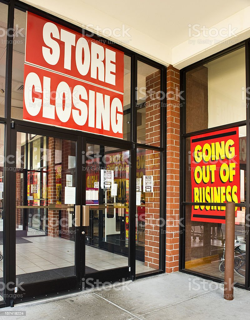 Retail Store Going Out Of Business stock photo