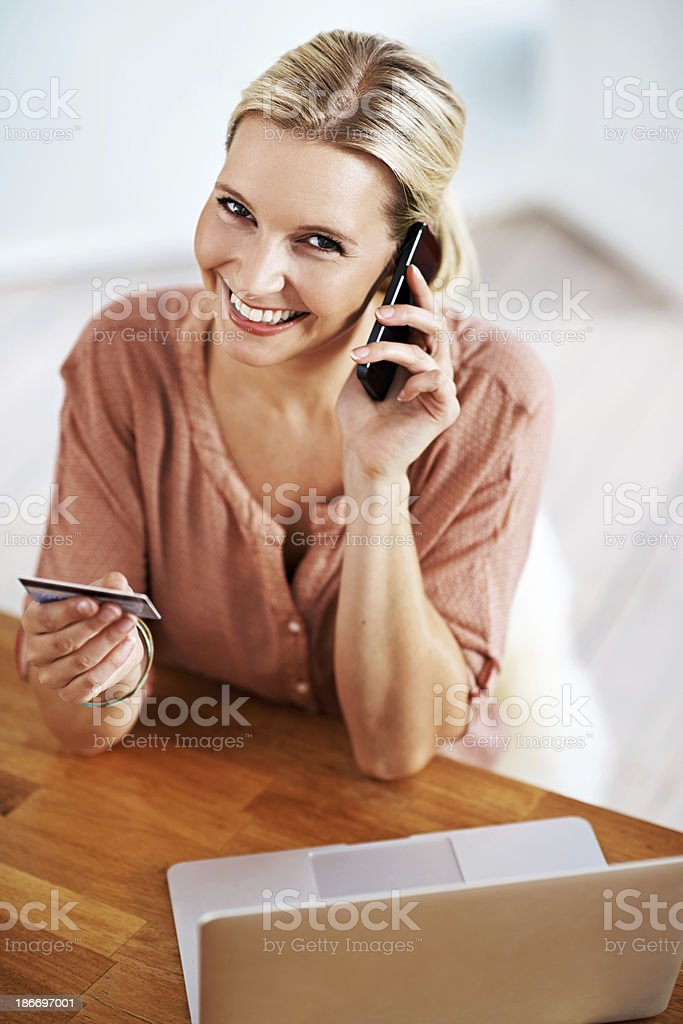 Retail therapy online royalty-free stock photo