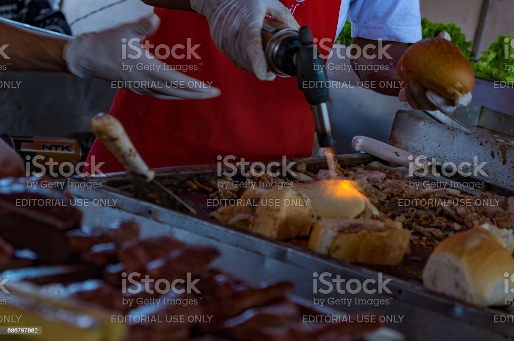Retail trade of fruits and vegetables in São Paulo stock photo