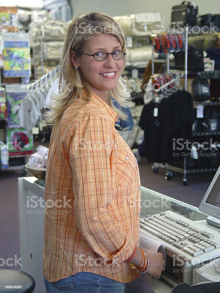 Retail worker royalty-free stock photo