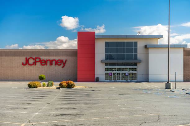 Retailer JC Penny at The Mall of Victor Valley located in Victorville, CA stock photo