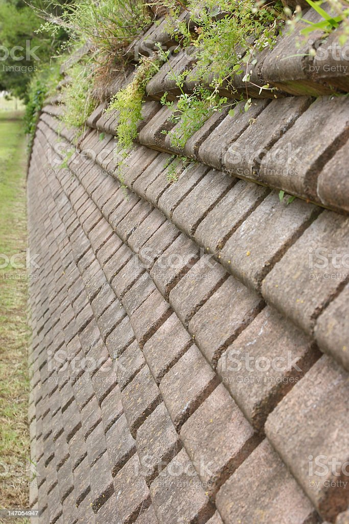 Retaining Wall royalty-free stock photo