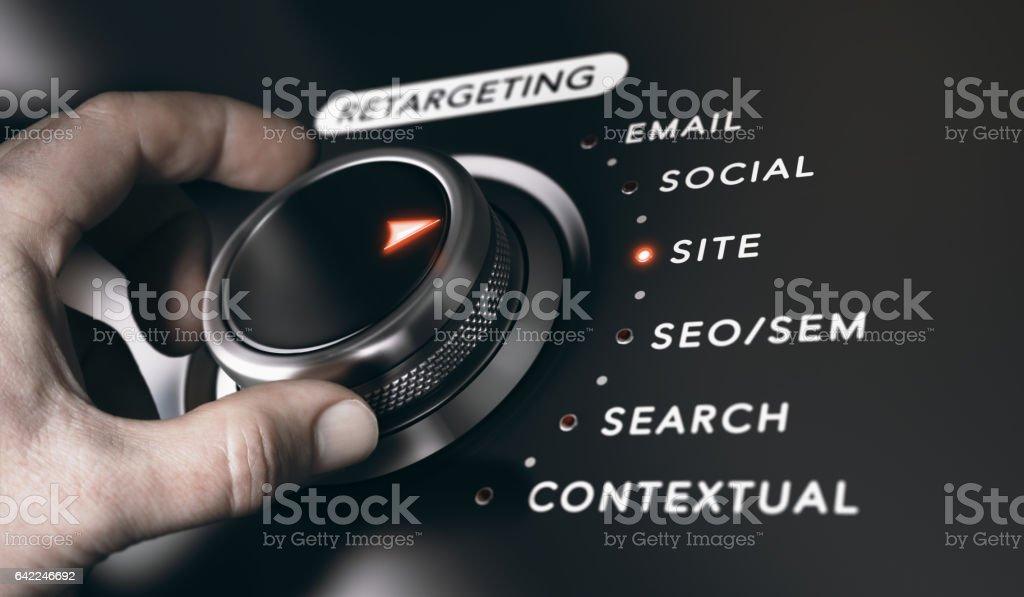 Retargeting o Remarketing concepto - foto de stock