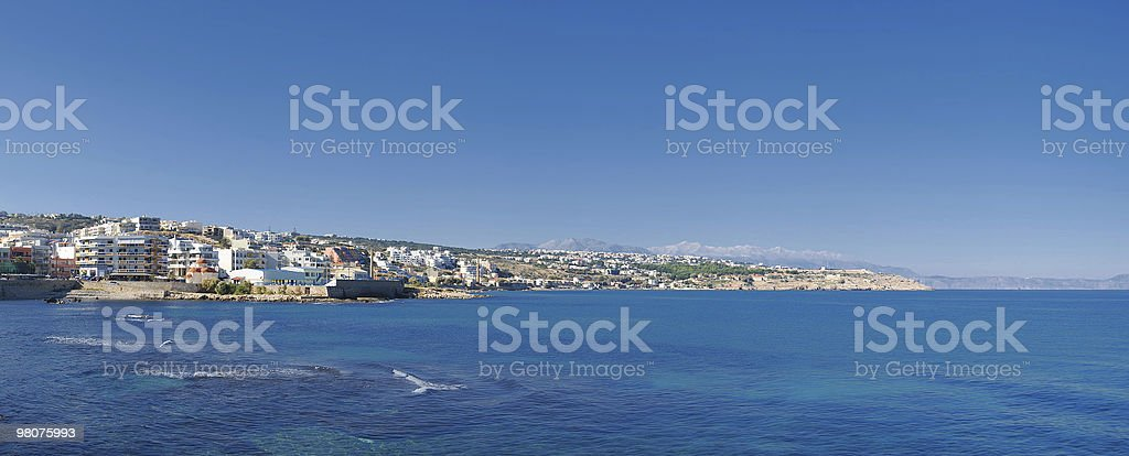 Rethymnon panorama royalty-free stock photo