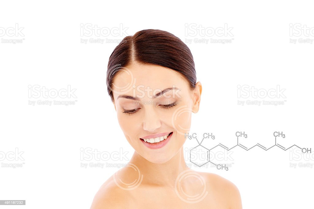 Retinol for anti-aging stock photo